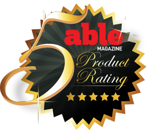 Able Magazine 5-Star Product Rating logo