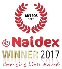 Naidex Changing Lives Award logo